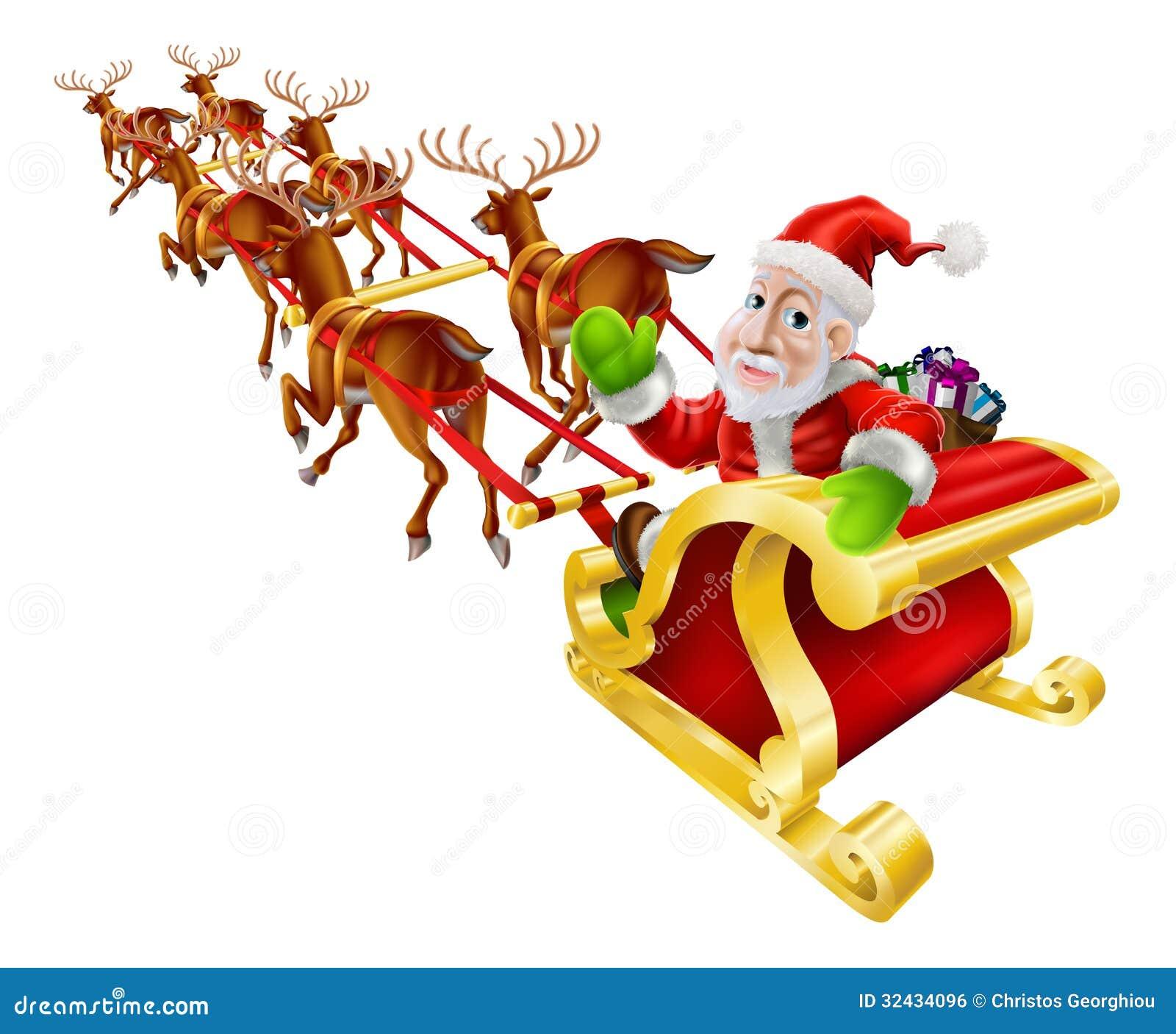 Santa sleigh and reindeer galleryhip com the hippest galleries
