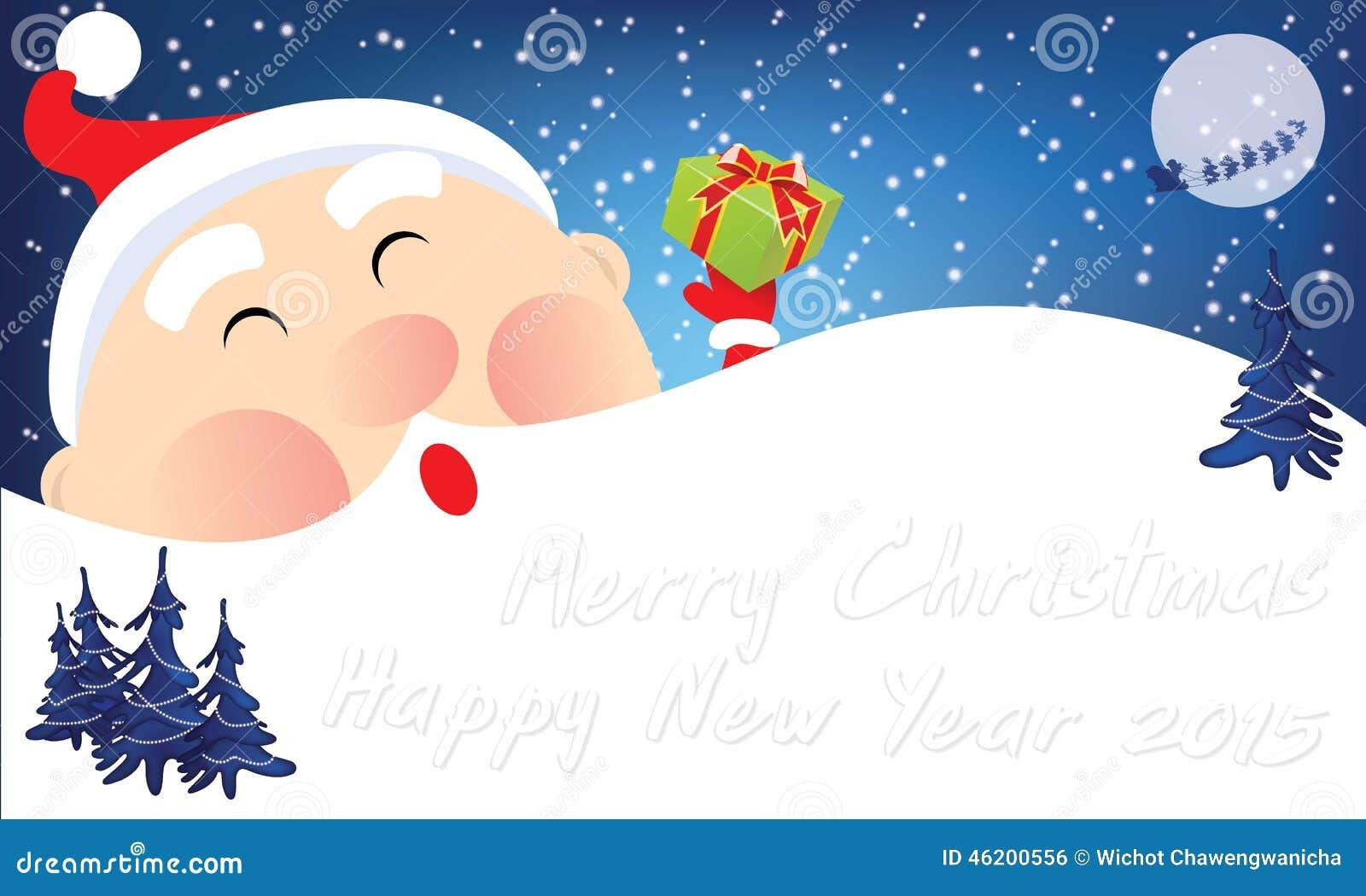 Cute cartoon christmas santa - photo#8