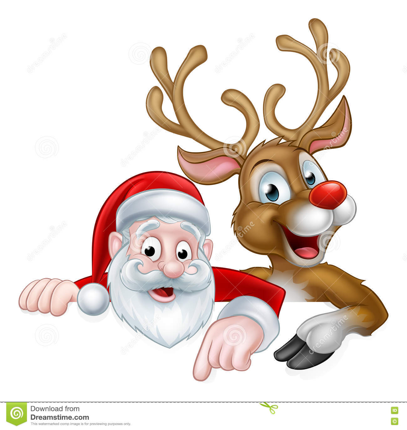 how to draw santa claus with reindeer