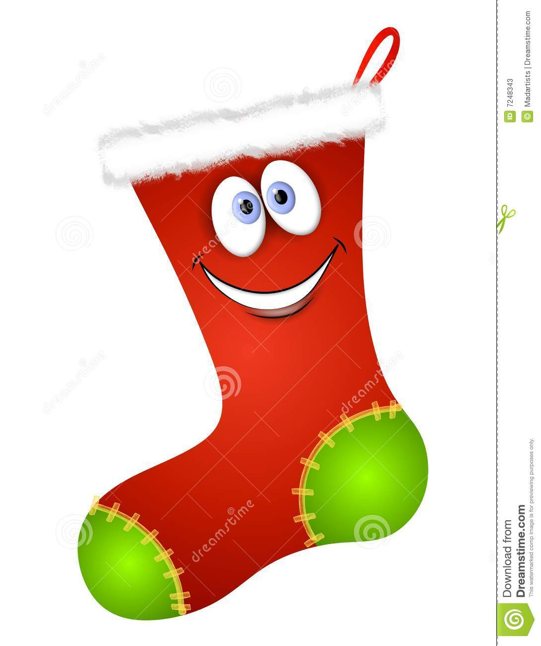 Christmas Stockings Cartoon.Cartoon Christmas Stocking Stock Illustration Illustration