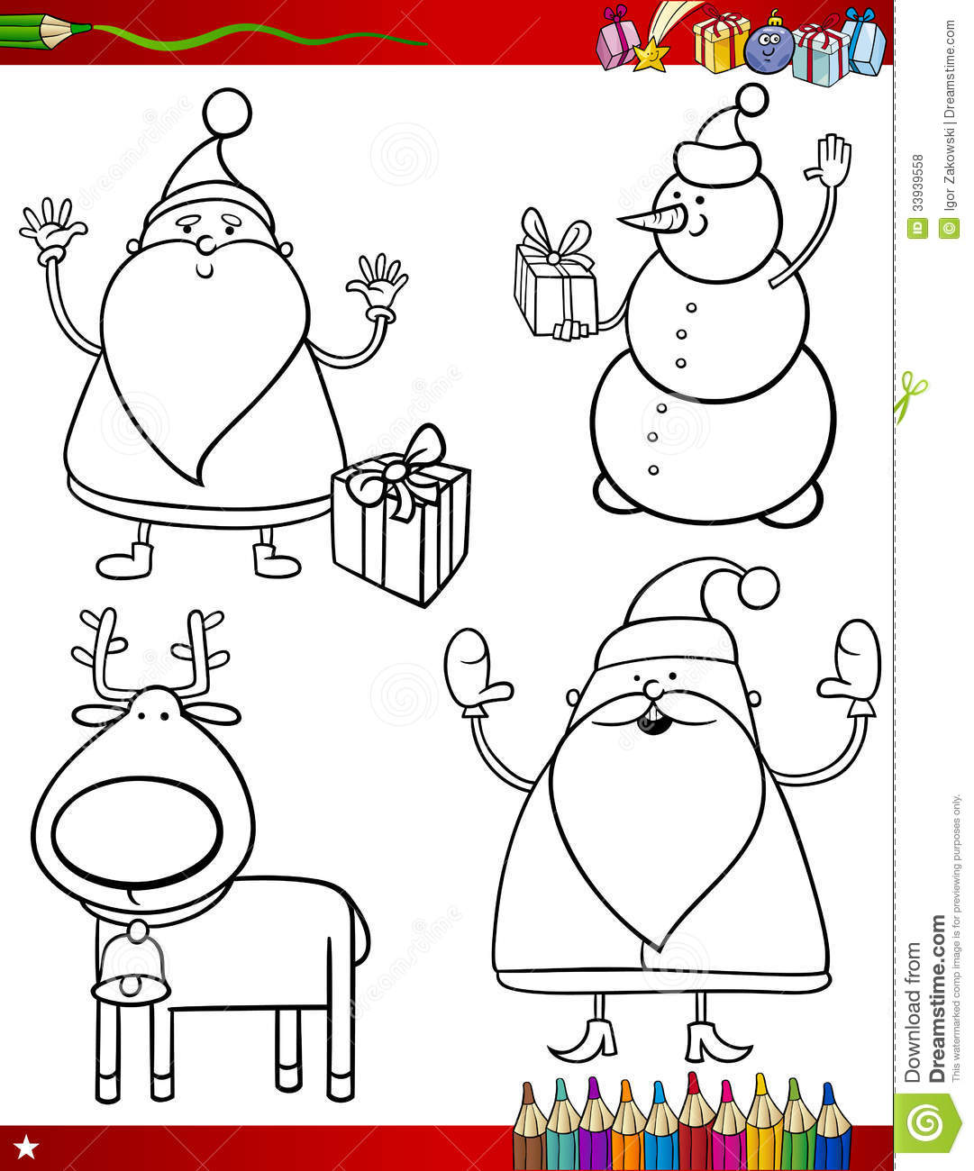 holiday themed coloring pages - photo #47