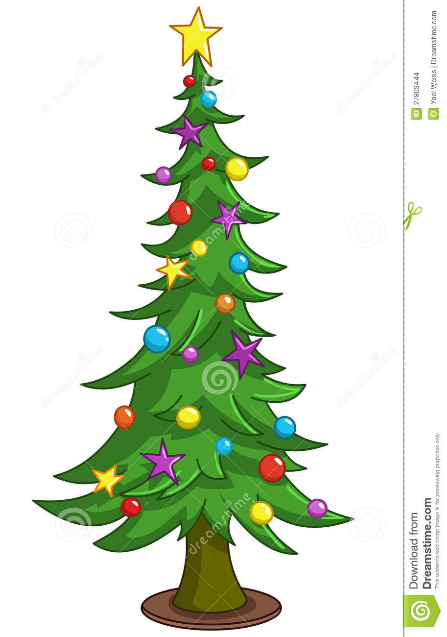 Cartoon Christmas Tree Stock Vector Image Of Background