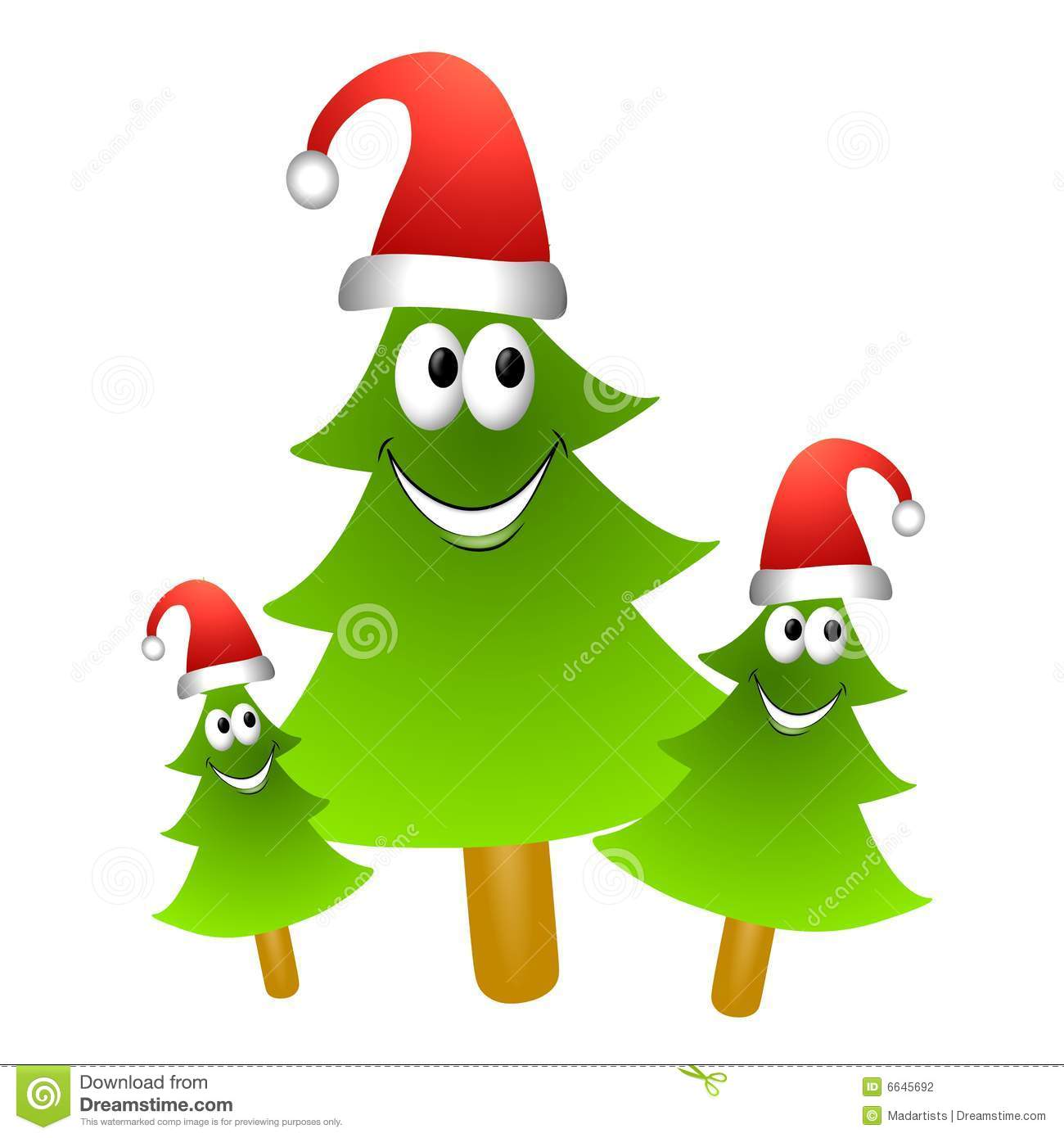 download cartoon christmas tree group 2 stock illustration illustration of holidays graphics 6645692 - Christmas Cartoon Pictures