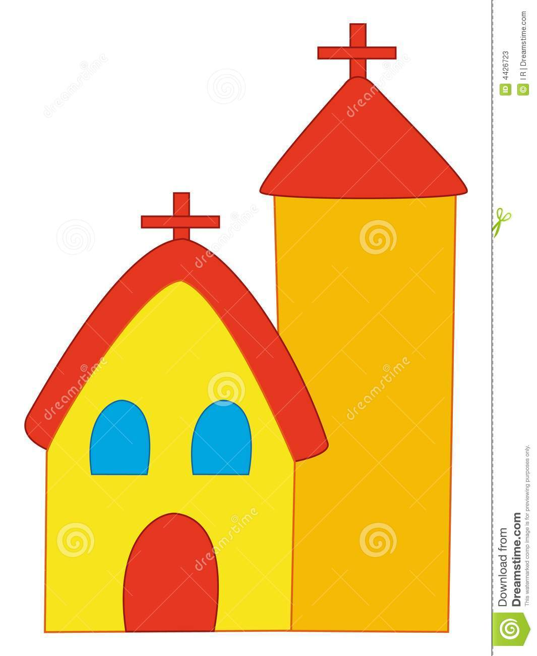 Cartoon Church Stock Photos - Image: 4426723
