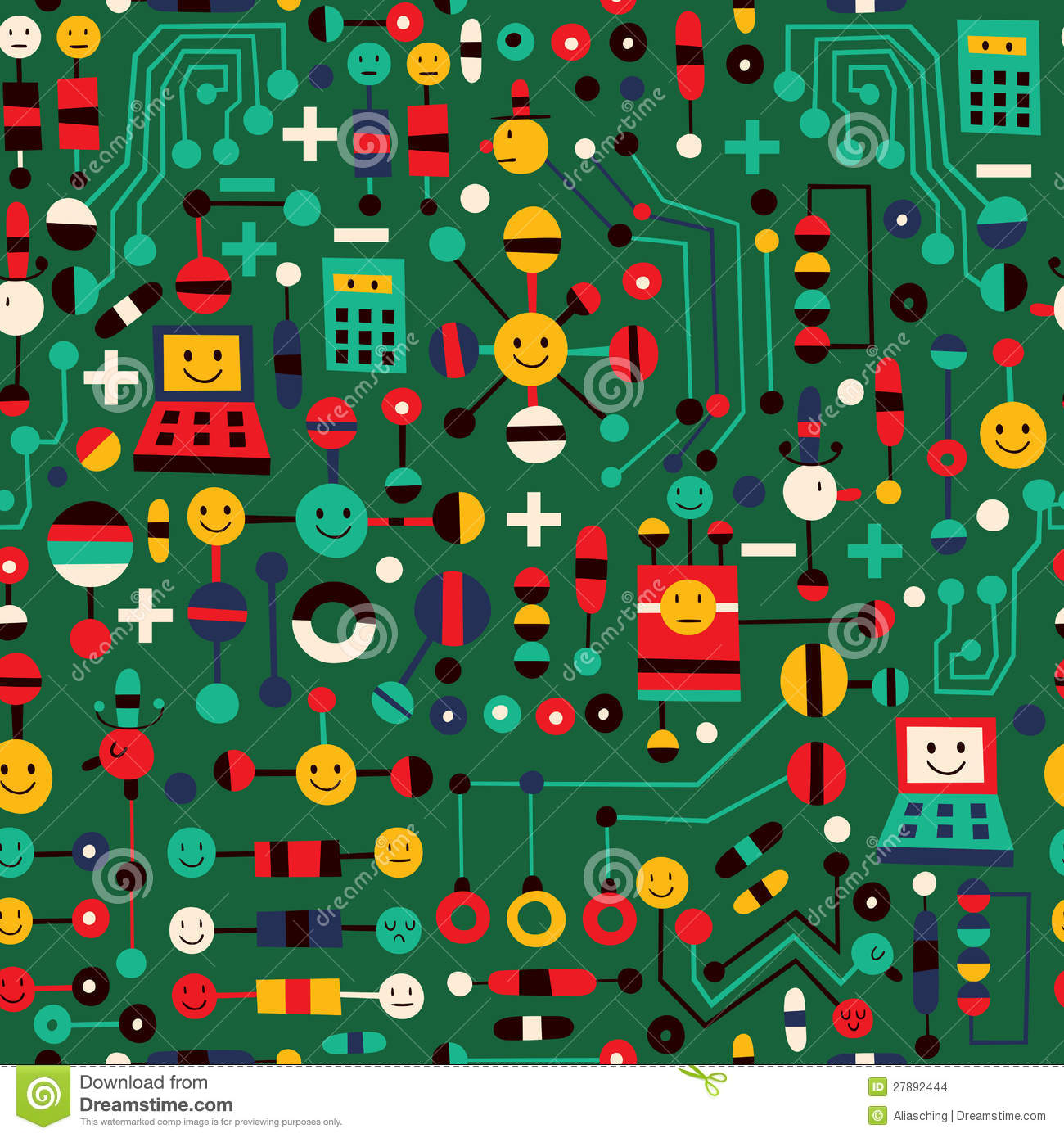 cartoon circuit board stock vector illustration of design 27892444 rh dreamstime com Circuit Board Circuit Schematic Symbols