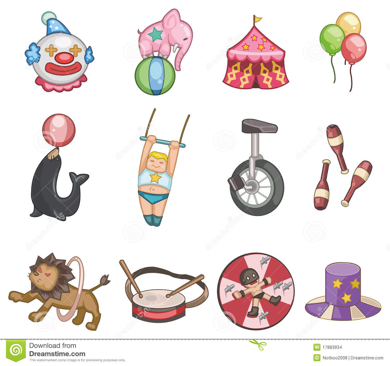 Cartoon Circus Icon Stock Images - Image: 17883934