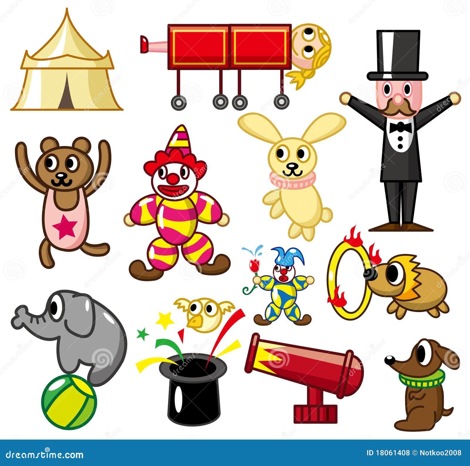 Cartoon Circus Icon Royalty Free Stock Photos