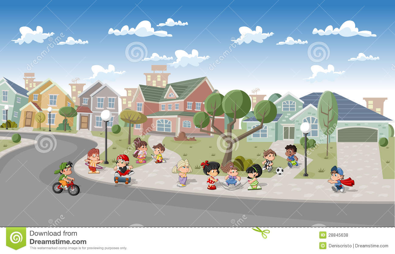 Cartoon Sidewalk Background