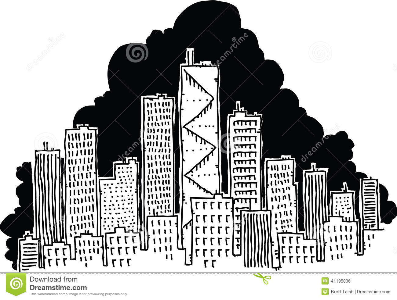Cartoon City stock illustration. Illustration of ...
