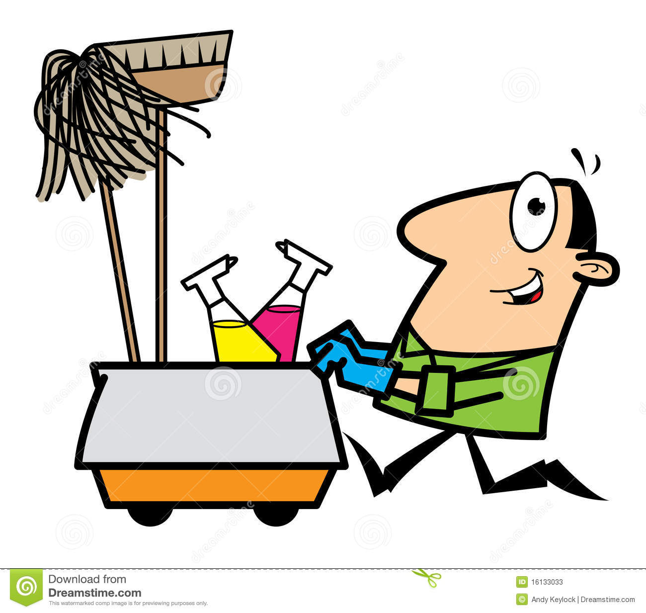 Cartoon Cleaner Stock Photos Image 16133033
