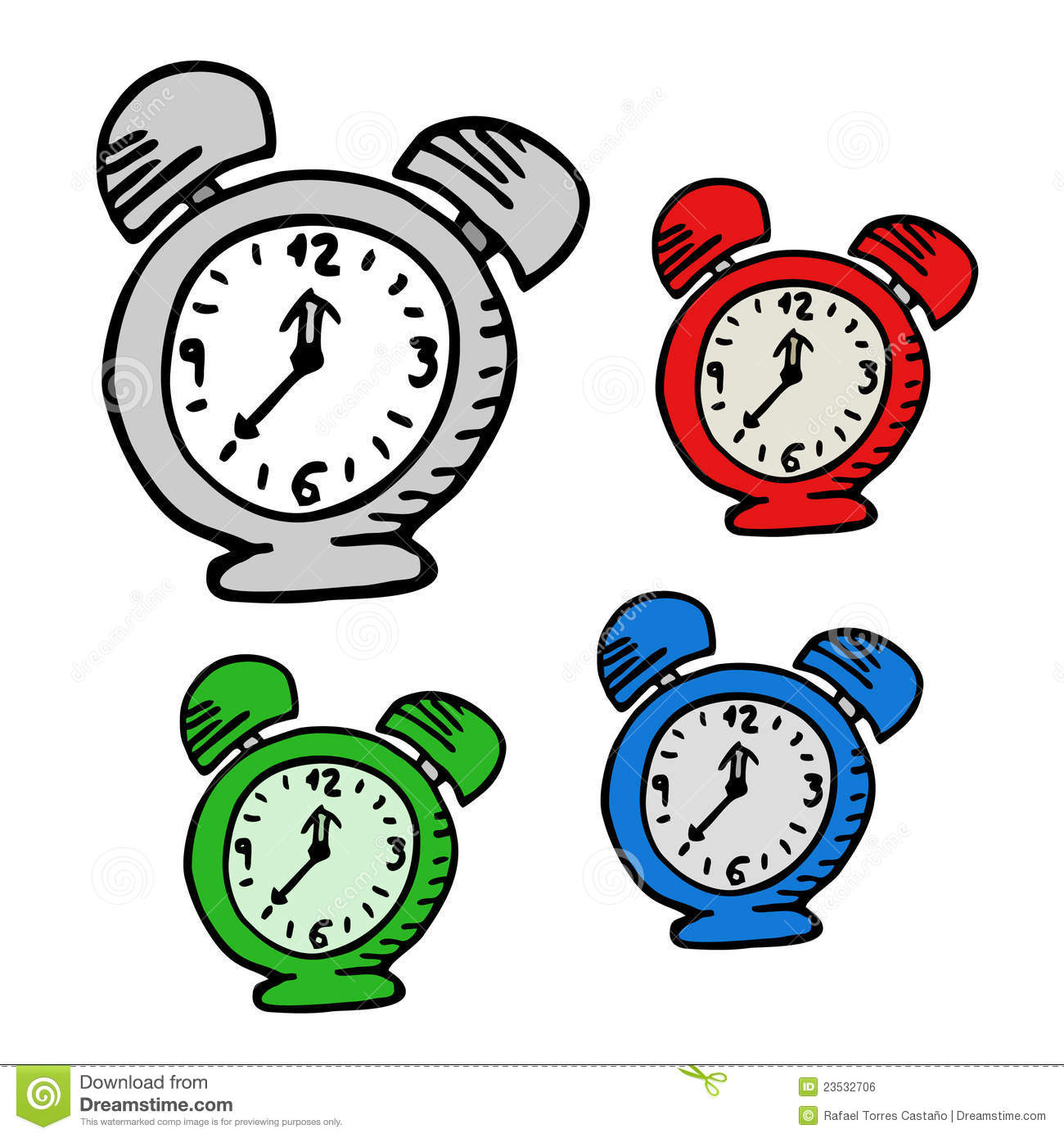 Cartoon Clock Royalty Free Stock Image - Image: 23532706