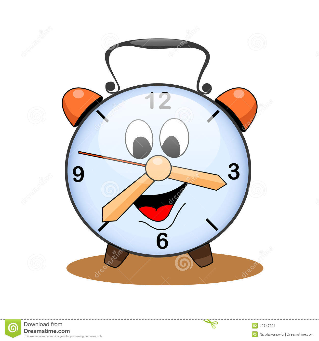 Cartoon Clock Stock Vector Image 40747301