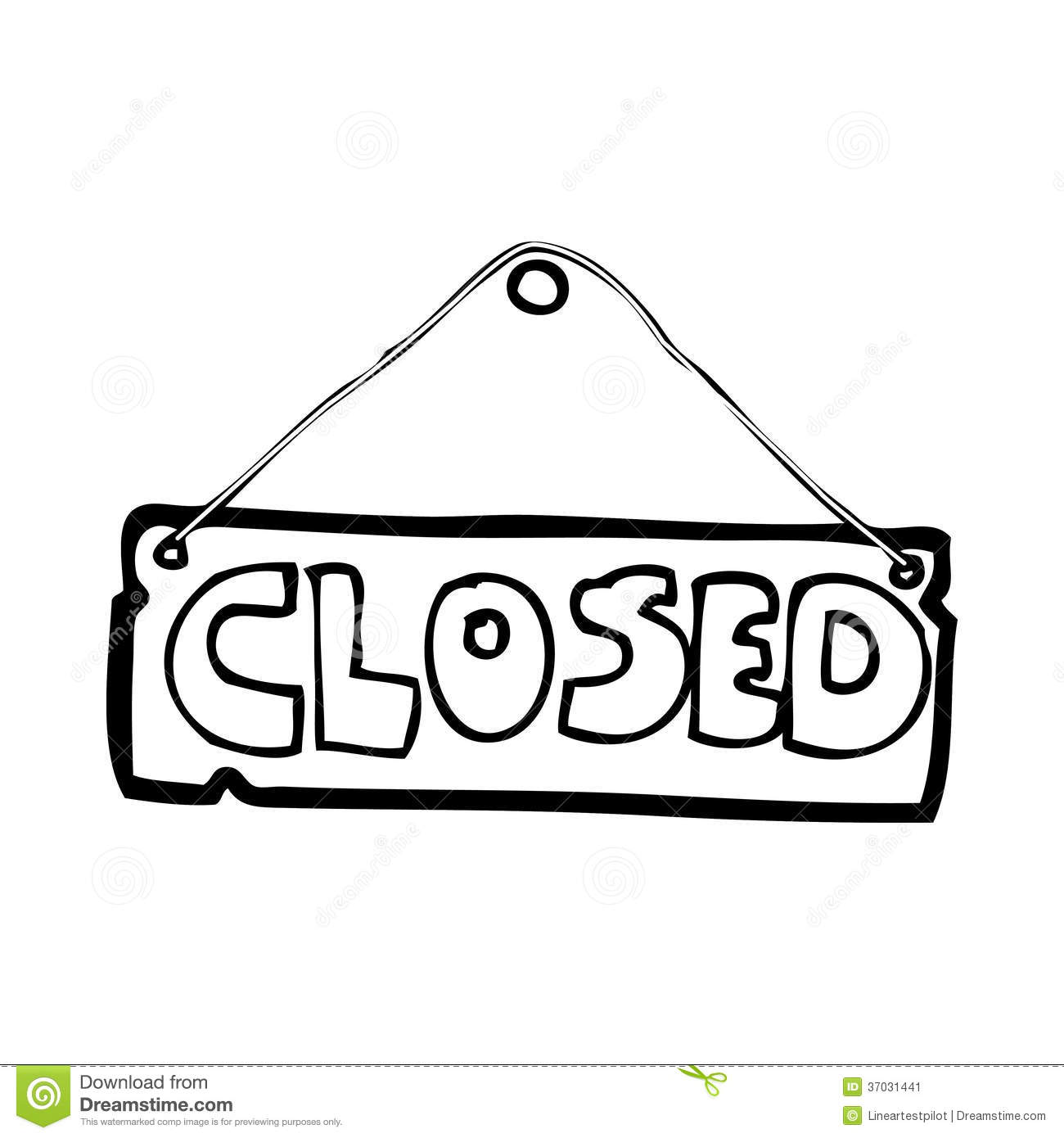 Cartoon Closed Shop Sign Stock Photos, Images, & Pictures ...  Cartoon Closed