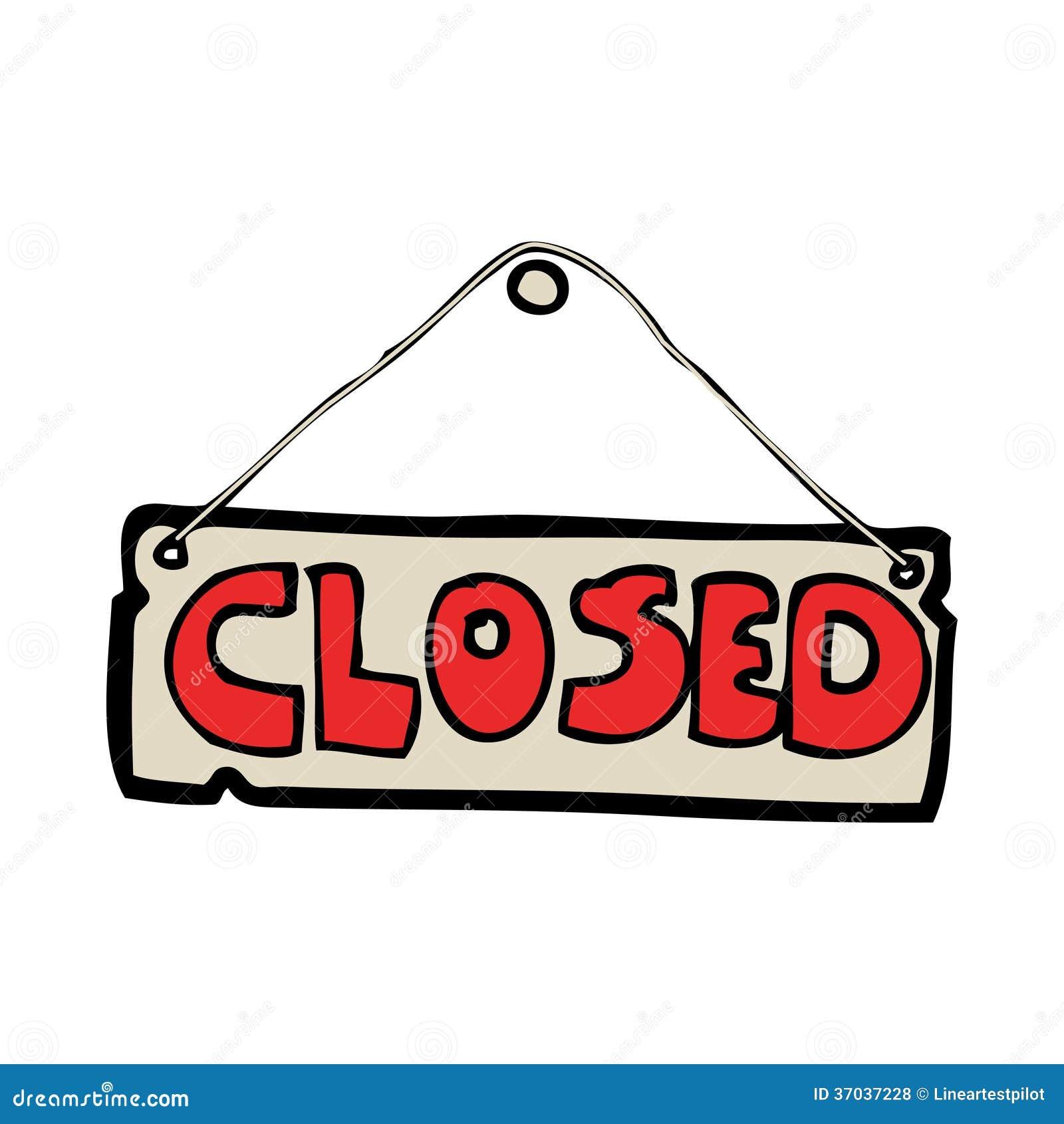 Cartoon closed shop sign — Stock Vector © lineartestpilot ...  Cartoon Closed