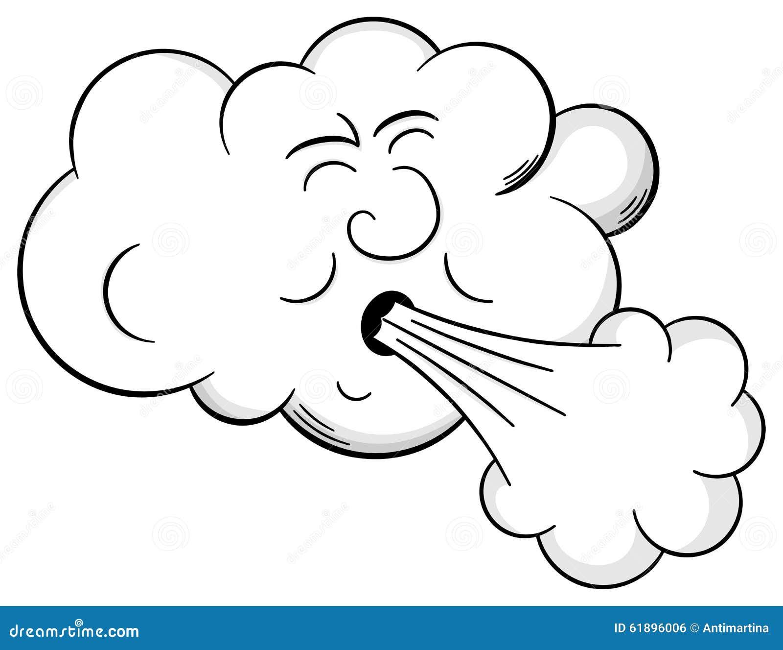 Blowing air