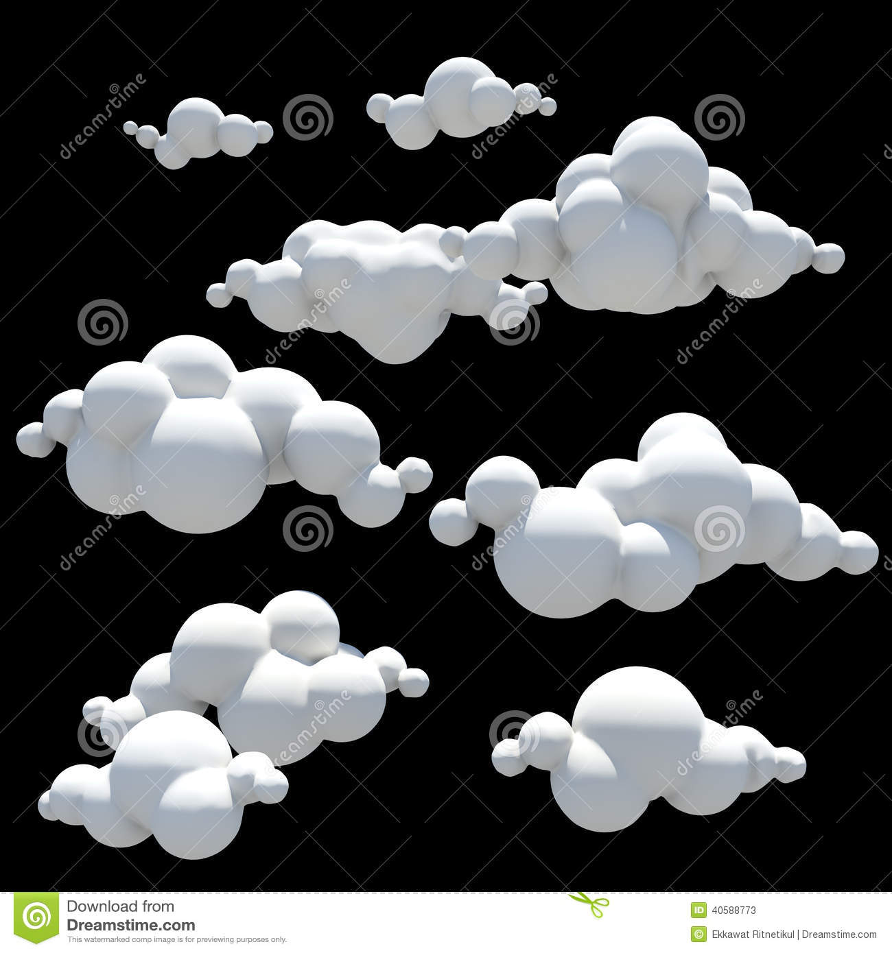 cartoon clouds design element png transparent background