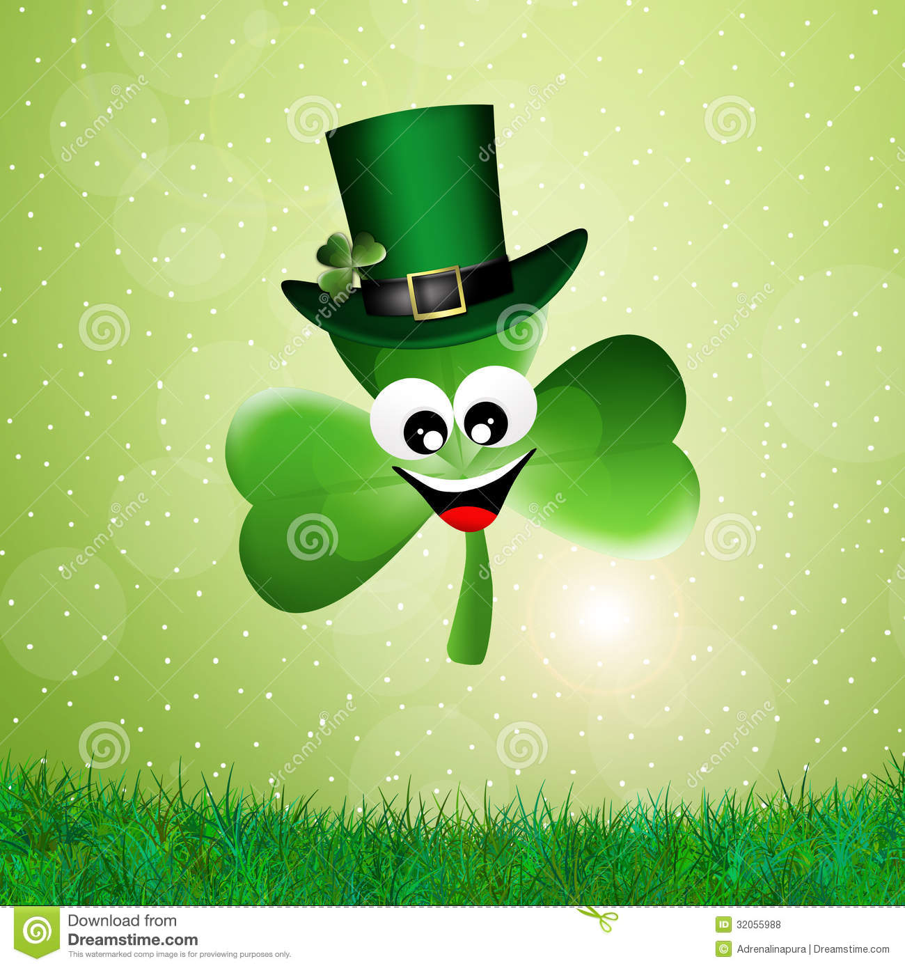Cartoon Clover Royalty Free Stock Photos - Image: 32055988