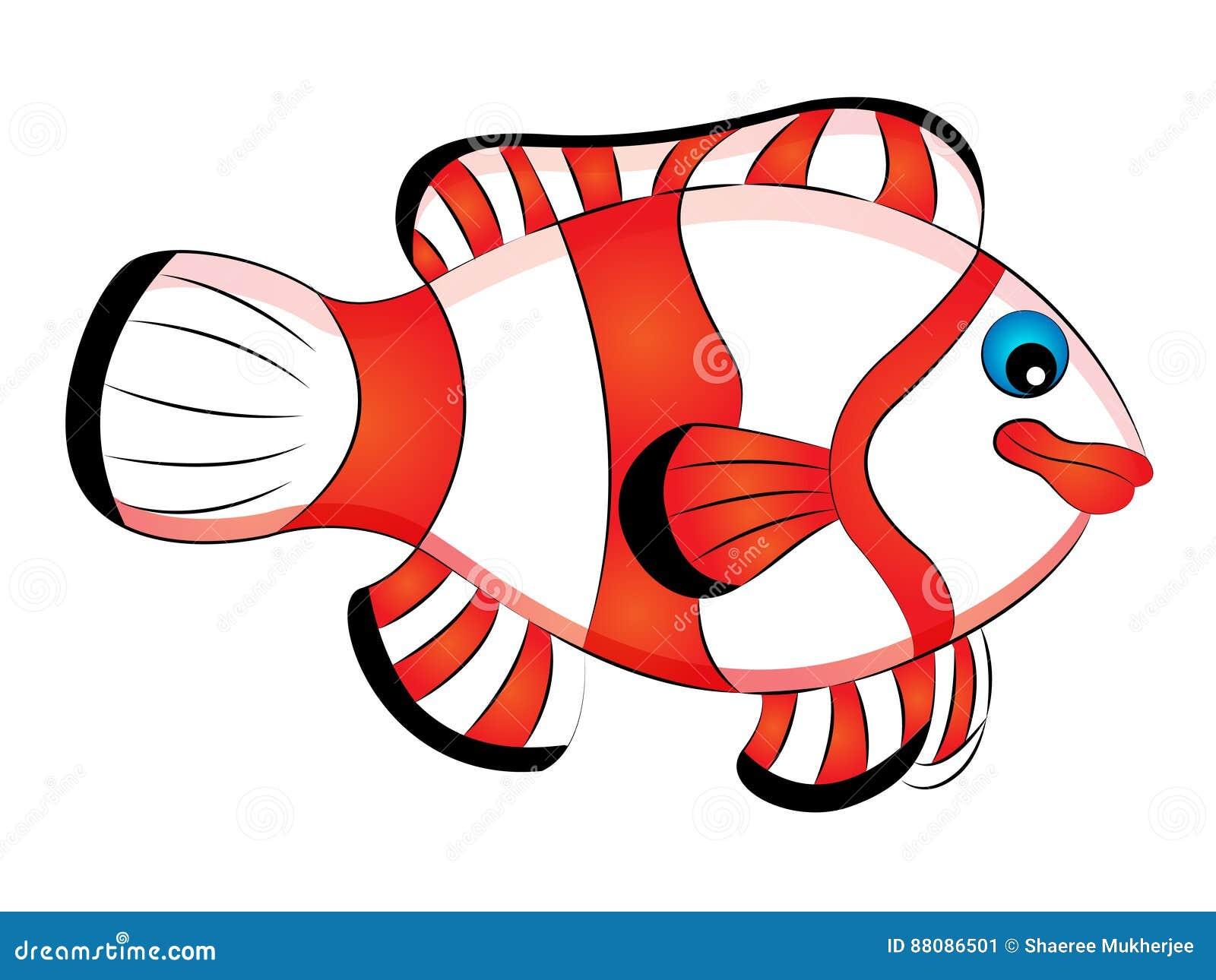 Cartoon Clown Fish Stock Vector Illustration Of Marine 88086501