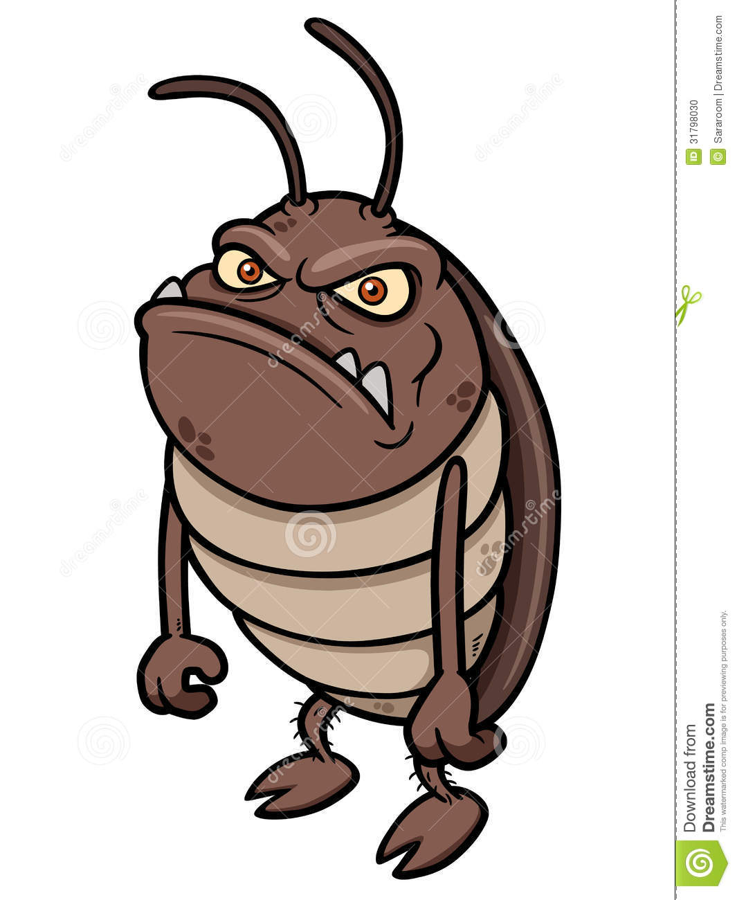 Cartoon Cockroach Stock Photo - Image: 31798030