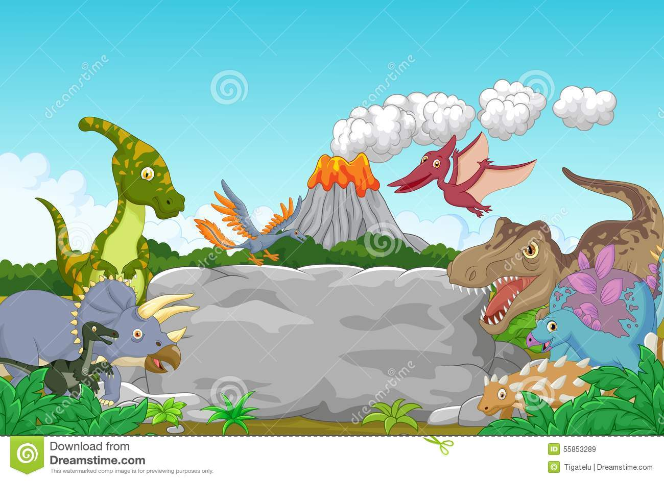 Collection Dinosaur Jungle Stock Illustrations 514 Collection Dinosaur Jungle Stock Illustrations Vectors Clipart Dreamstime