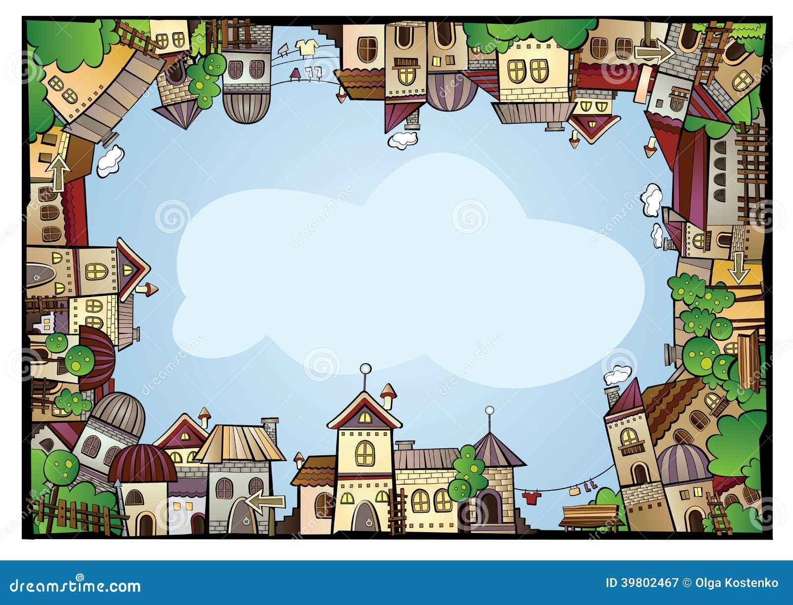 Cartoon Color Construction Town Border Stock Vector - Image: 39802467