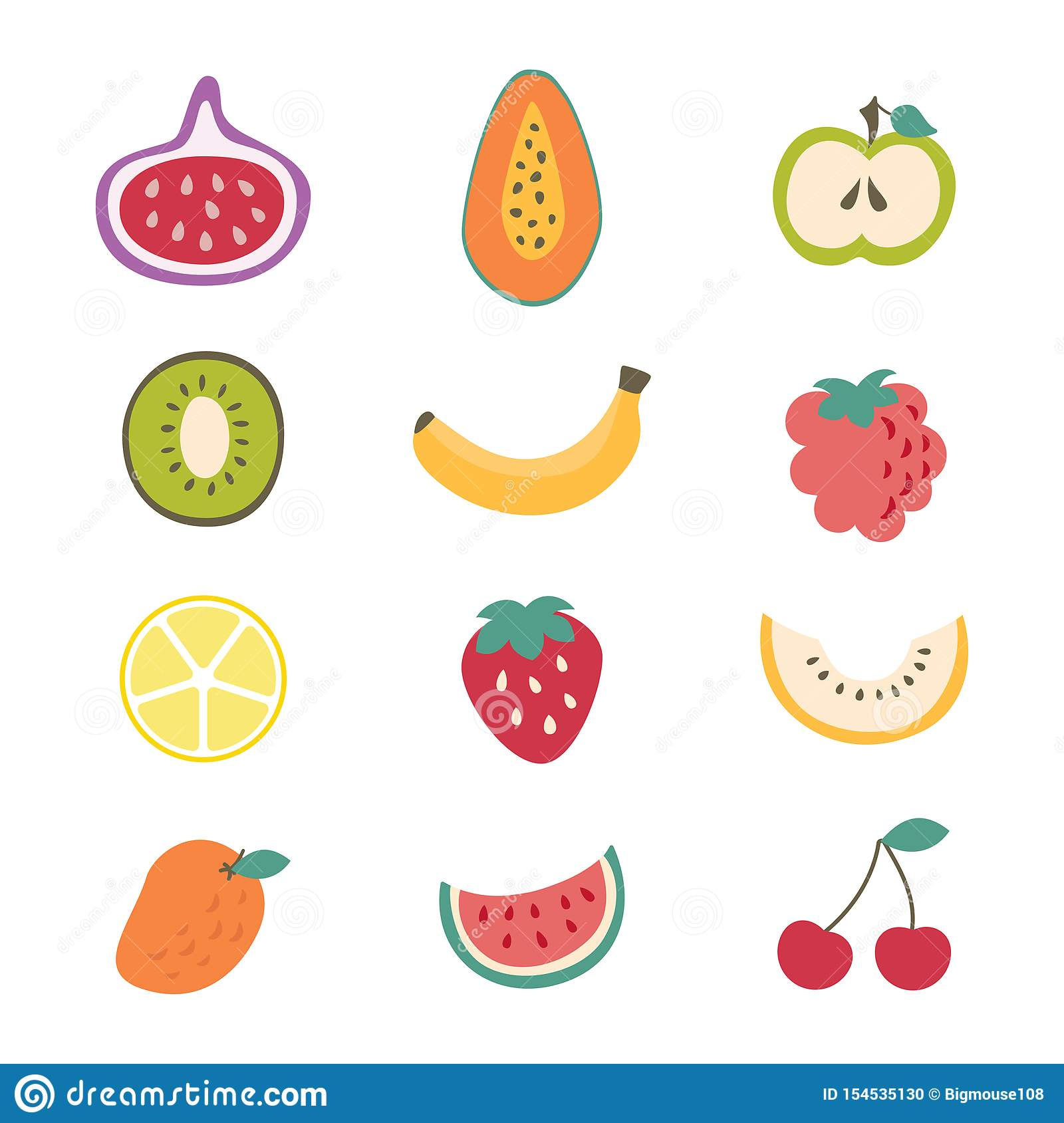 draw the different types of fruits - Clip Art Library