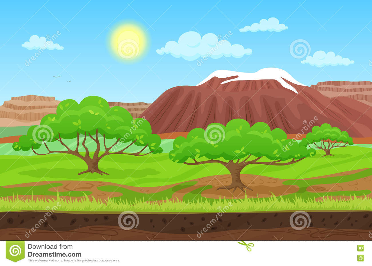 Fantastic Landscape Summer - cartoon-color-nature-spring-summer-landscape-sun-day-grass-trees-sky-nountains-hills-snow-vector-sunday-game-74832728  Perfect Image Reference_431428.jpg