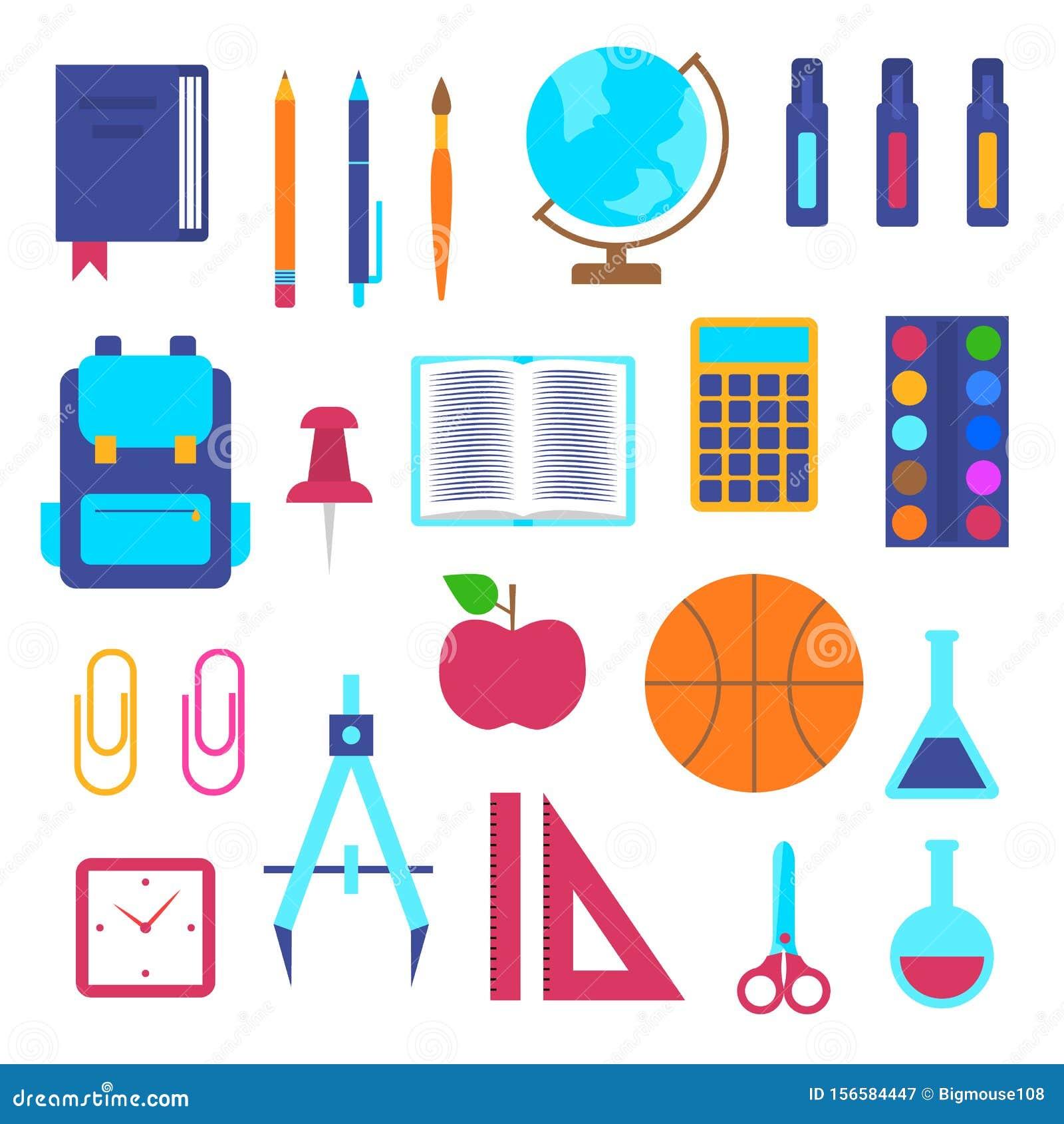College School Supplies Clipart