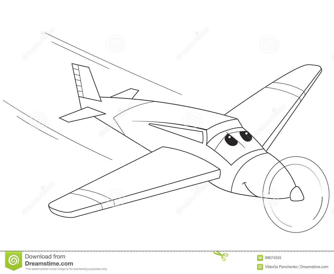 airplane cartoon with faces
