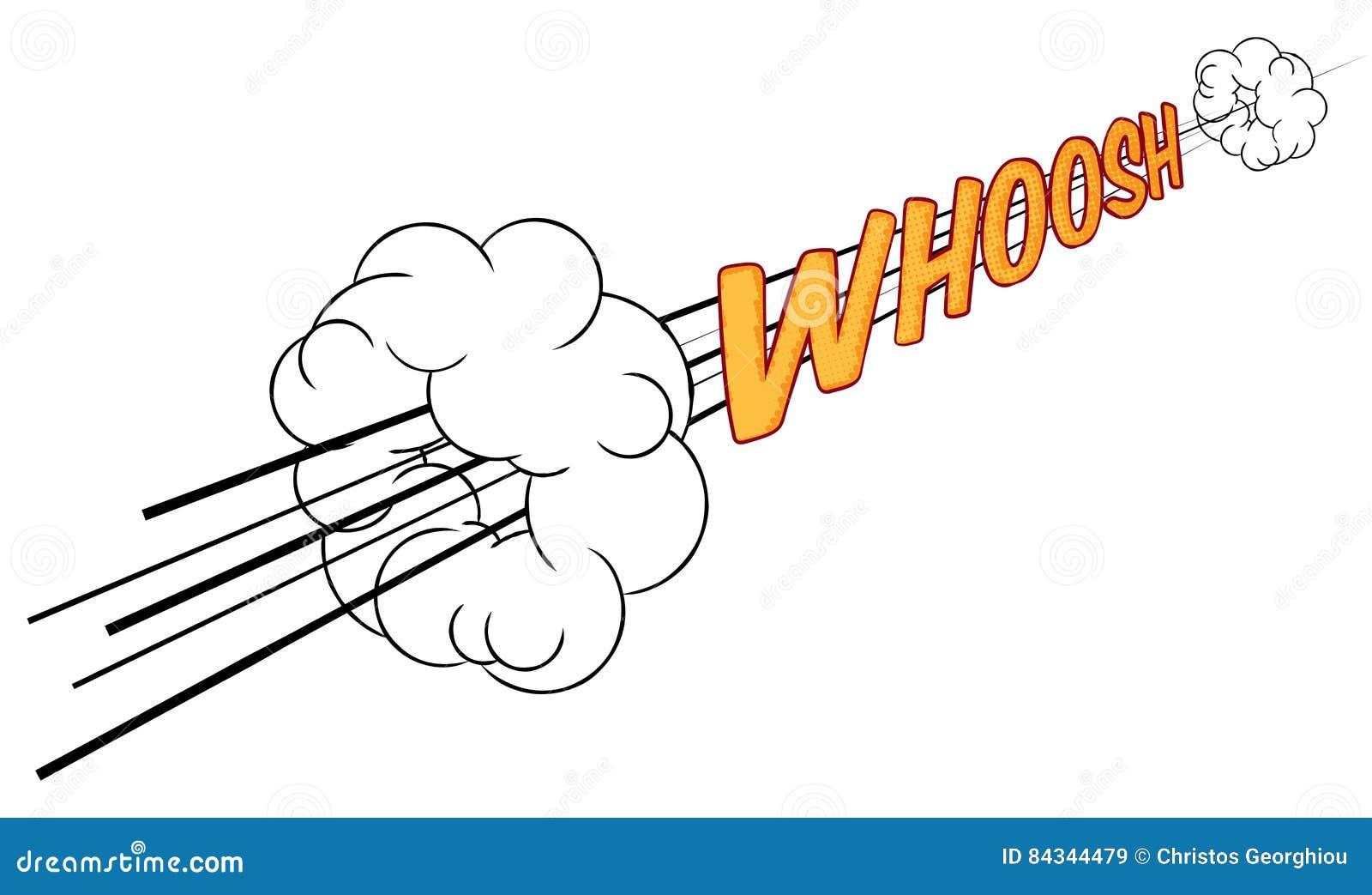 Cartoon Comic Book Whoosh Fast Sound Effect Stock Vector