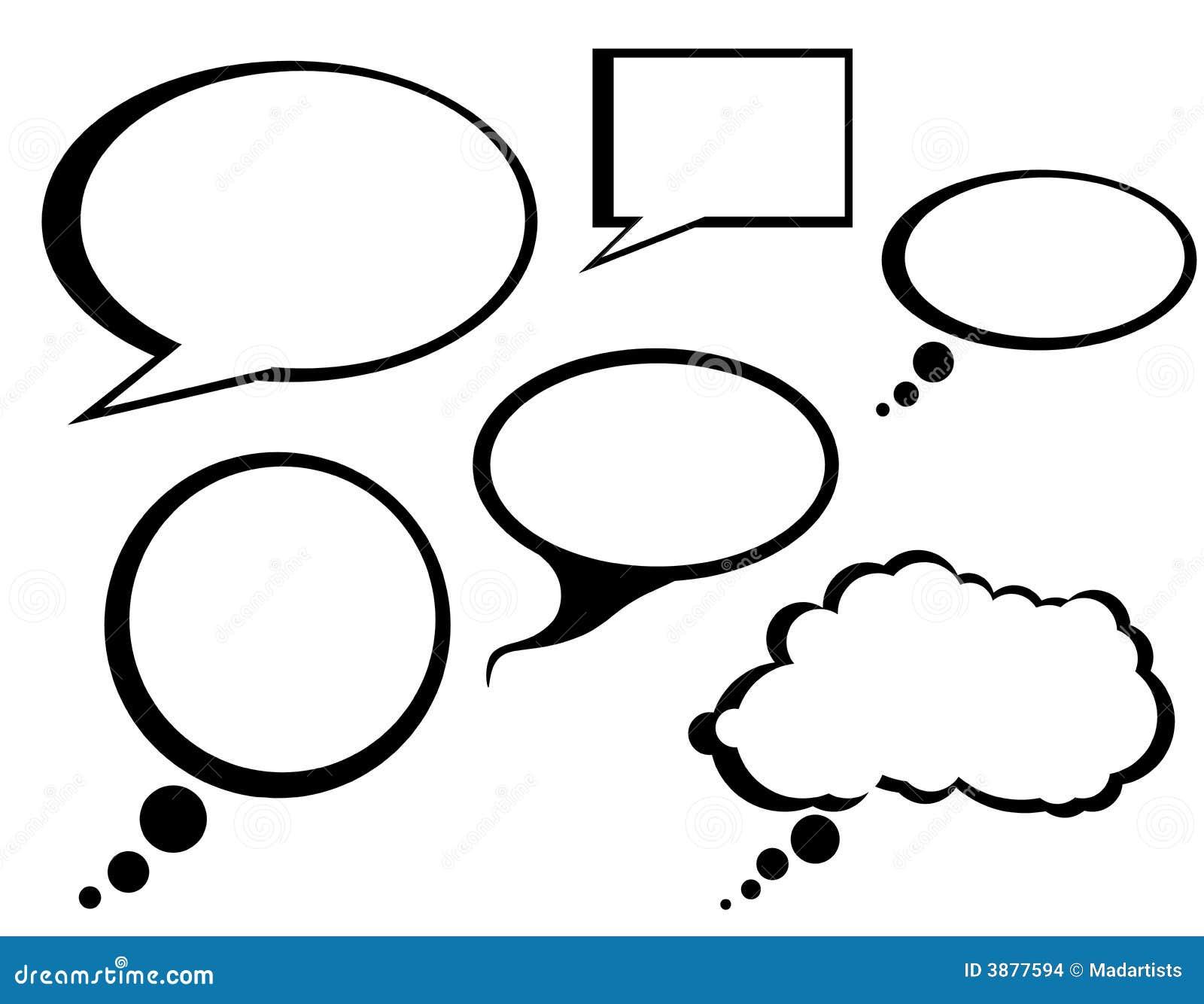 Cartoon Comic Talk Bubbles Clip Art Stock Images - Image: 3877594
