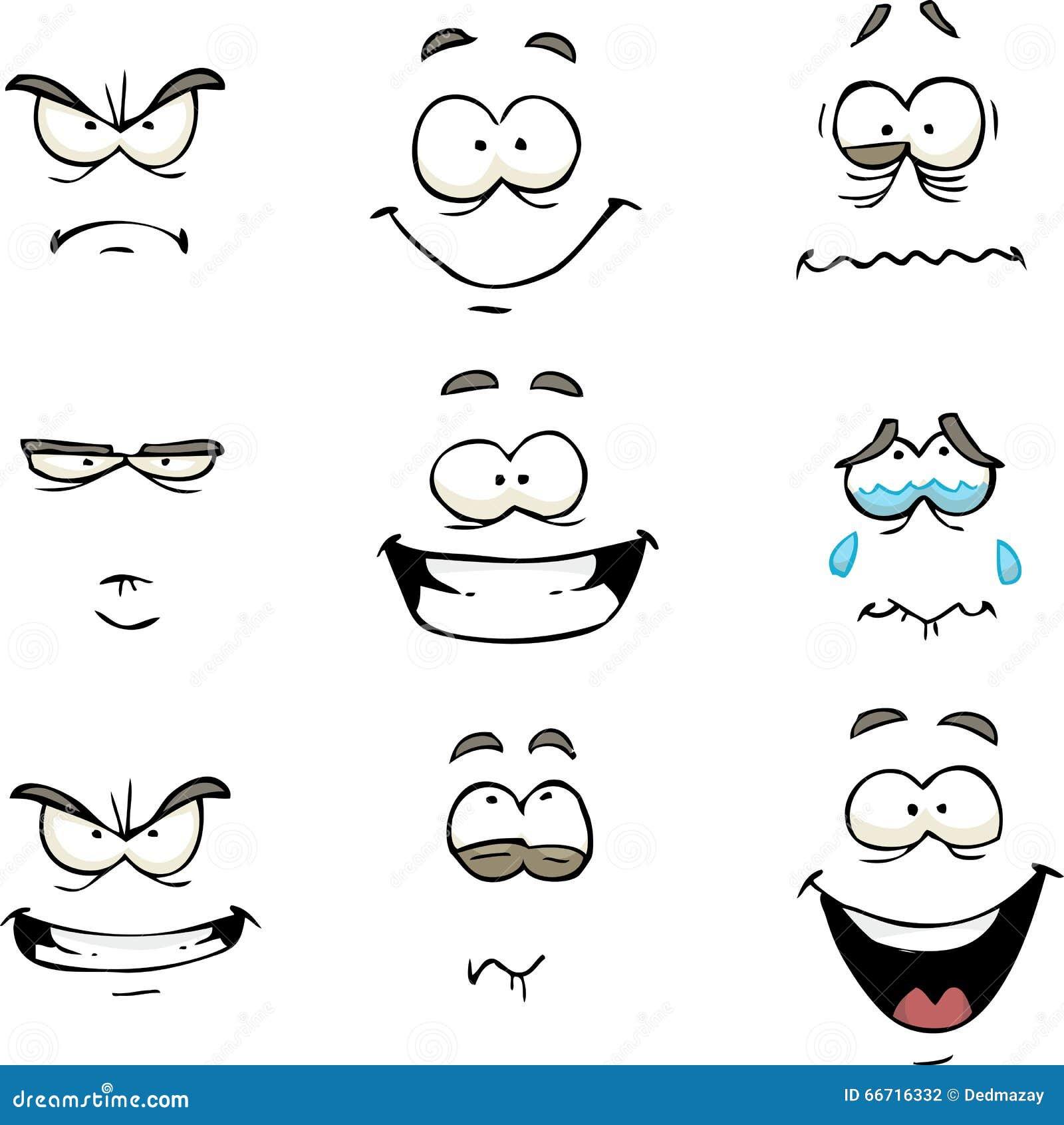 Cartoon Comics Face Stock Vector Image 66716332