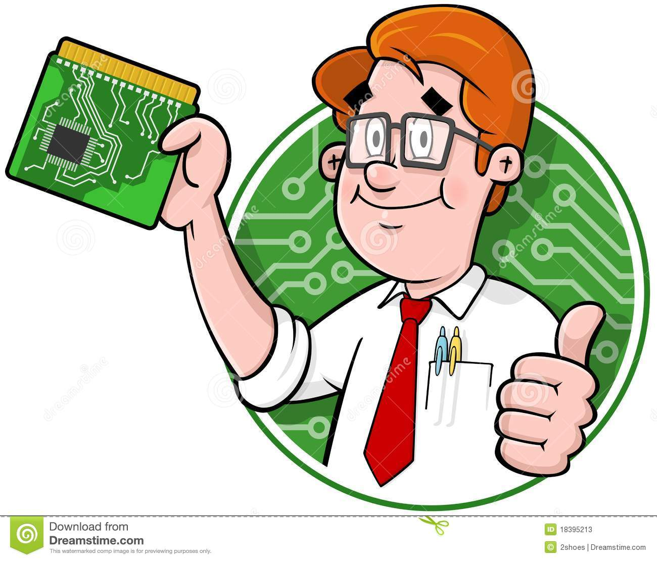 Cartoon Computer Support Logo Stock Photos - Image: 18395213