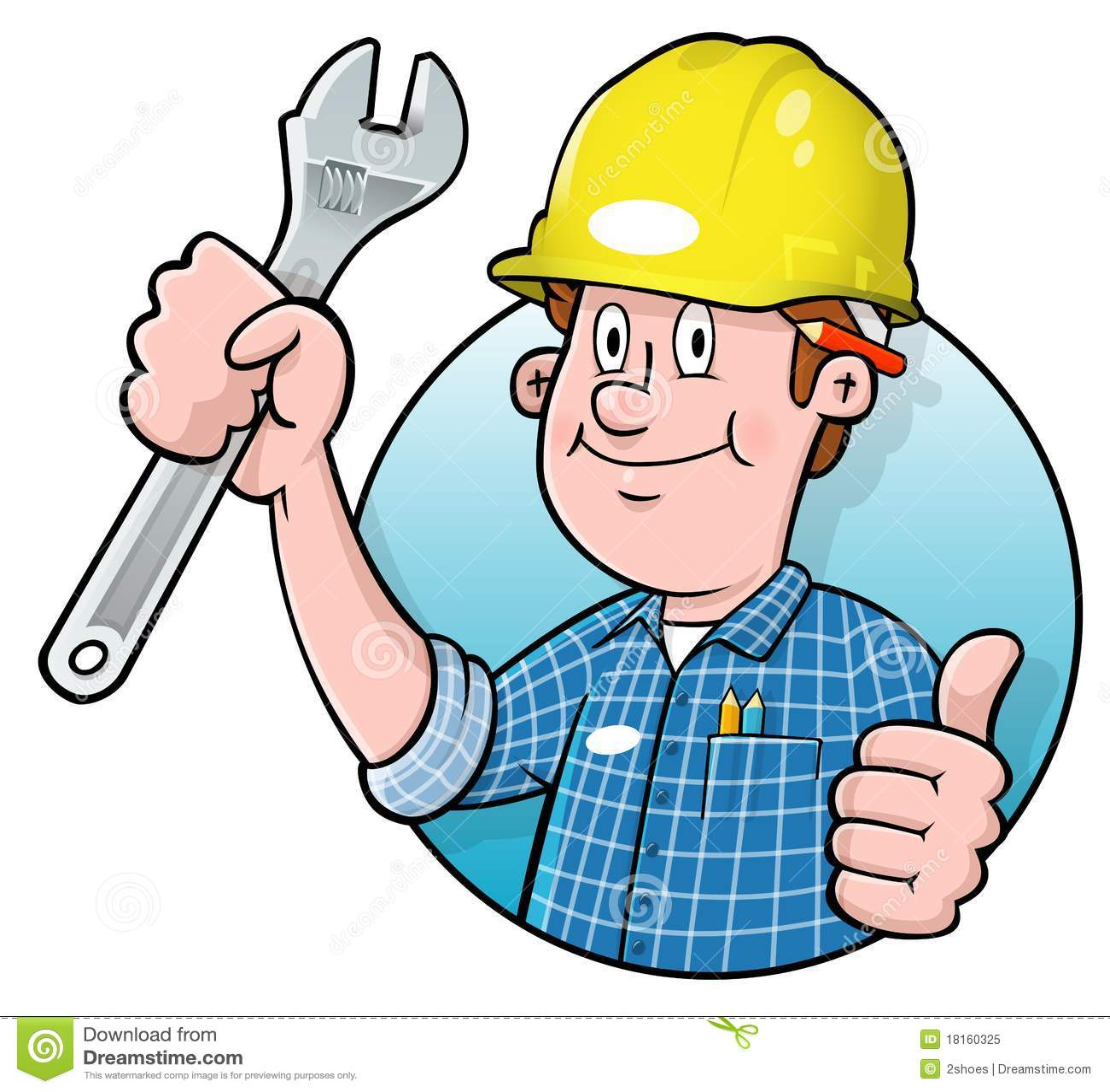clipart construction worker cartoon - photo #39