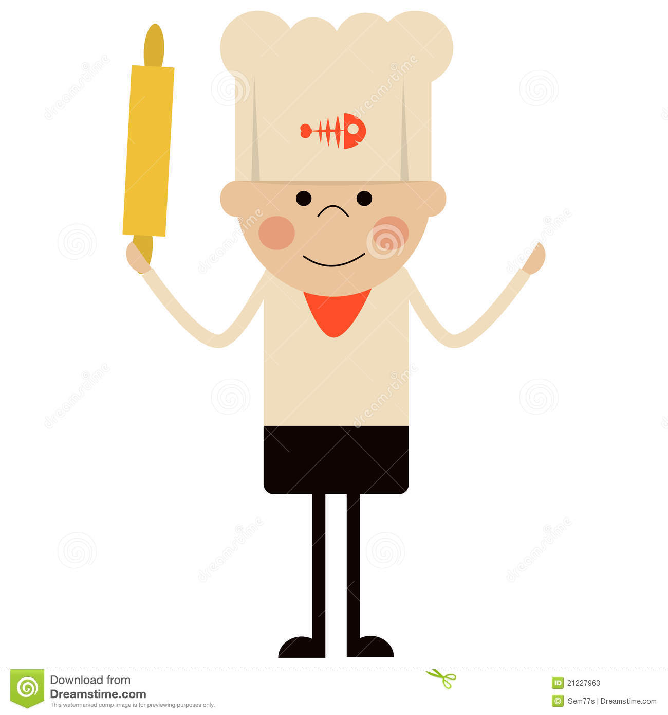 Cartoon Cook Illustration Stock Photos - Image: 21227963