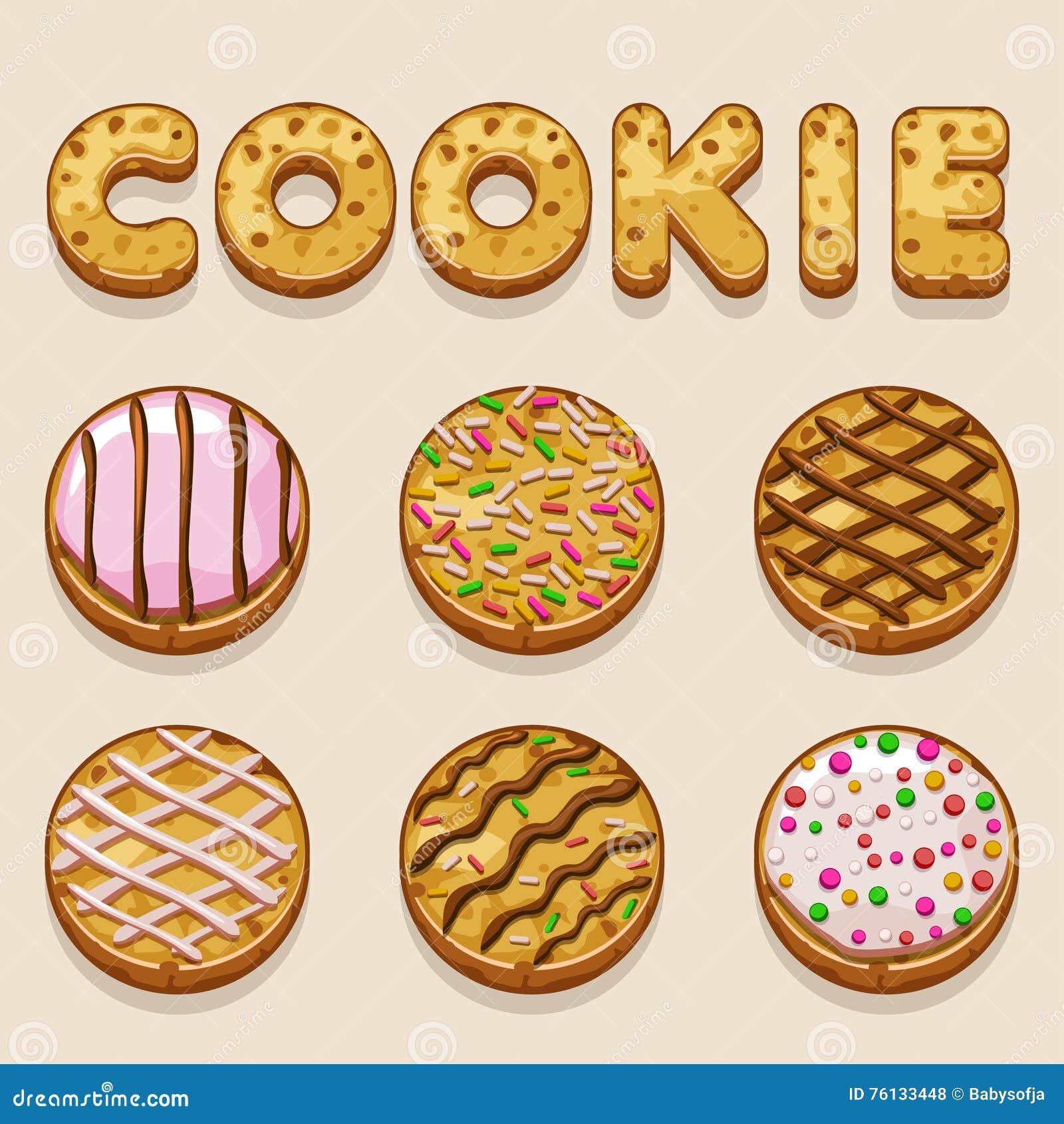 cartoon cookie biskvit vector food letters stock vector image cartoon cookie biskvit vector food letters