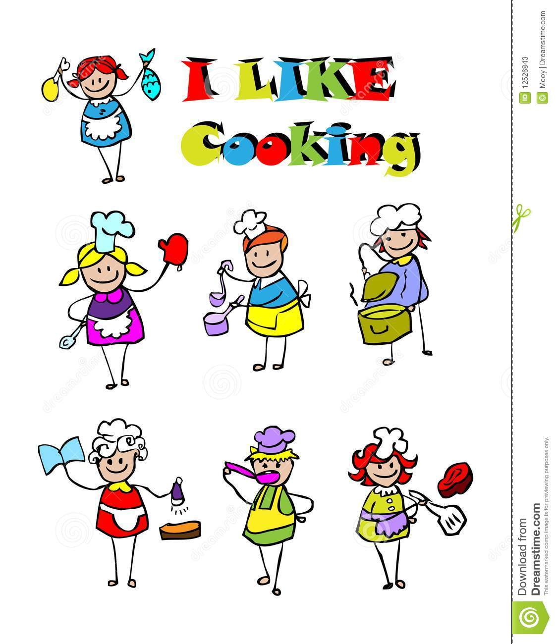 Cartoon cooking icons set food stock photos image 12526843 for Art cuisine evolution 10 piece cooking set