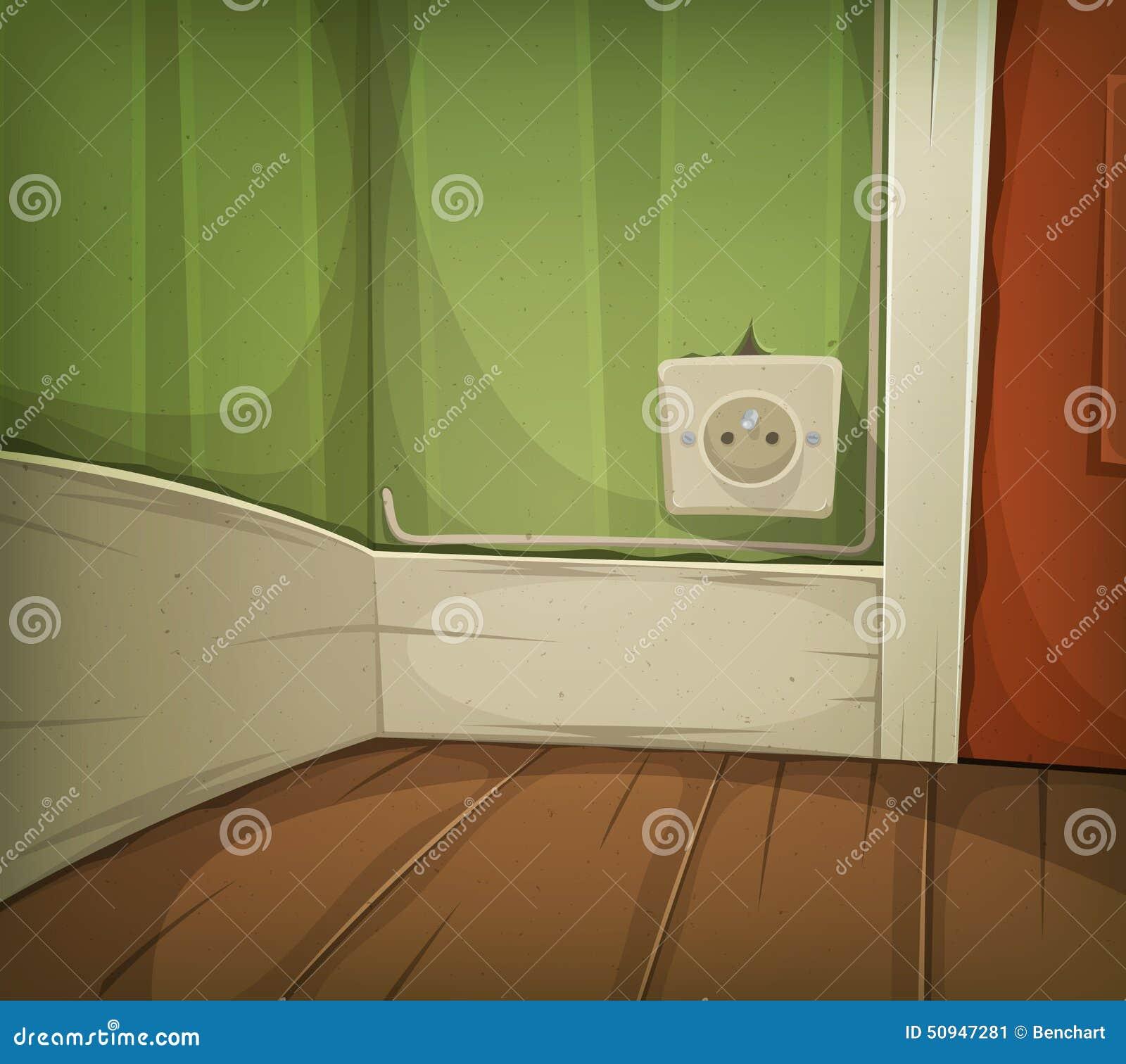 Cartoon Corner Of Room Close Up Stock Vector Image 50947281