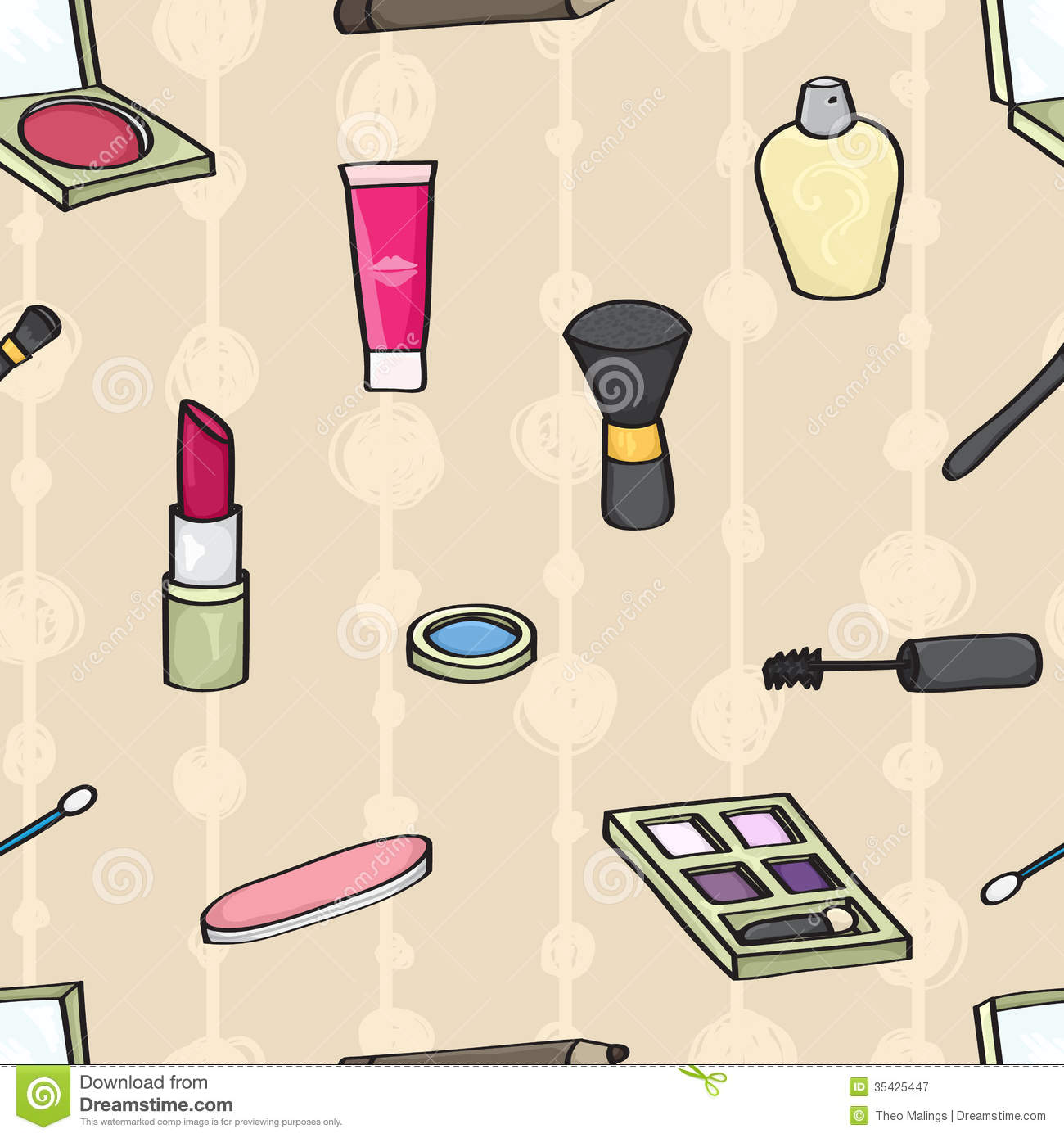 Great Cartoon Makeup Wallpaper - cartoon-cosmetics-seamless-background-tile-style-beige-35425447  Graphic_579348.jpg