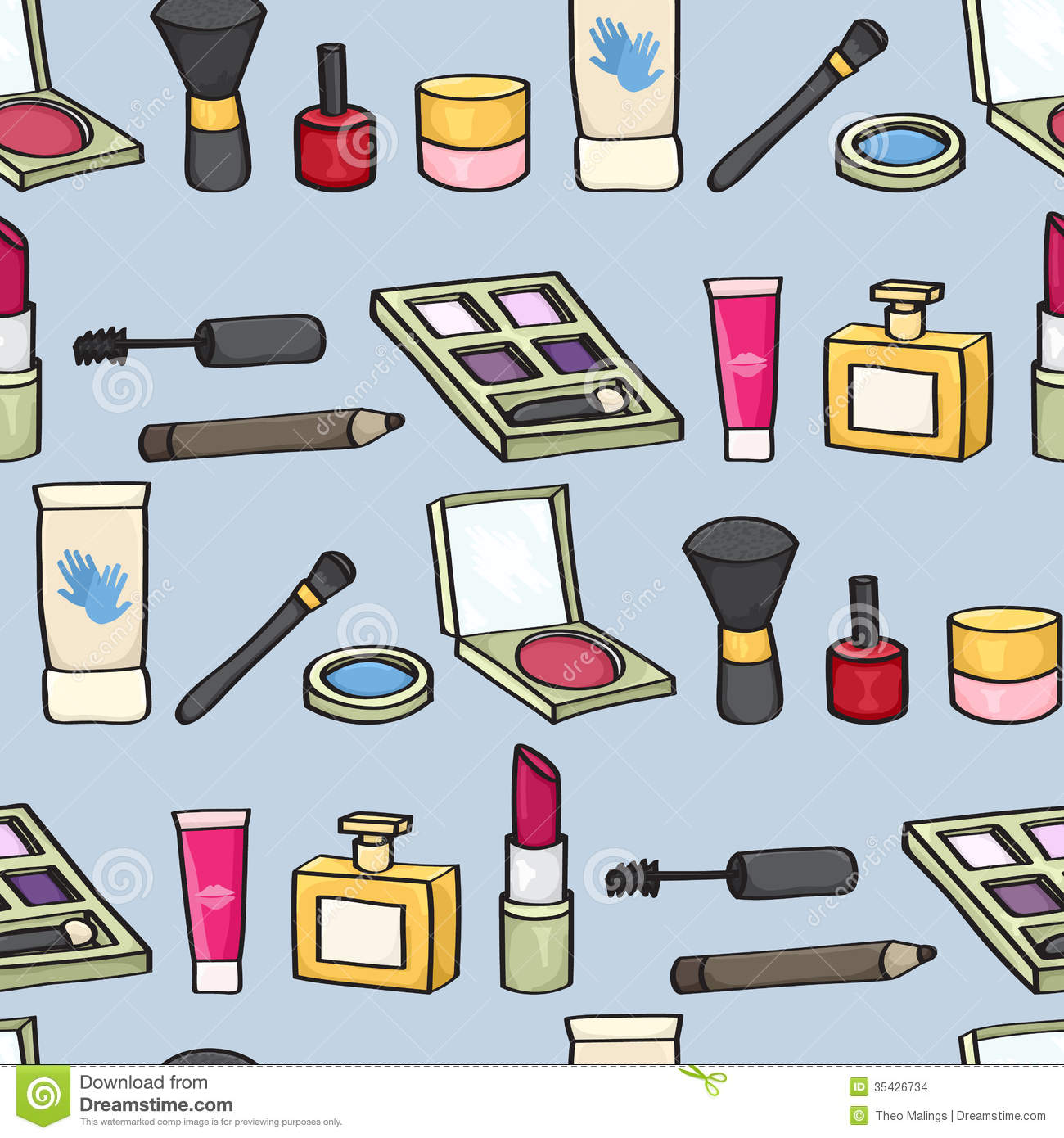 Great Cartoon Makeup Wallpaper - cartoon-cosmetics-seamless-background-tile-style-blue-35426734  Graphic_579348.jpg
