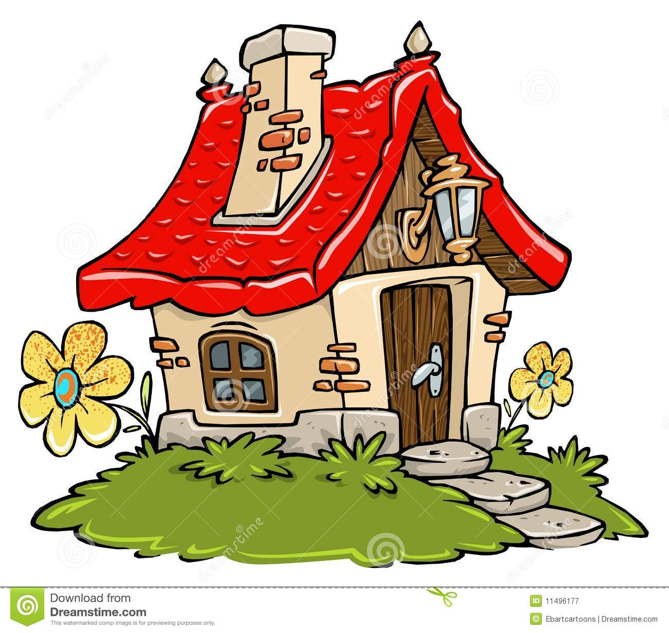 Cartoon cottage stock illustration image of beautiful for Drawing of small house