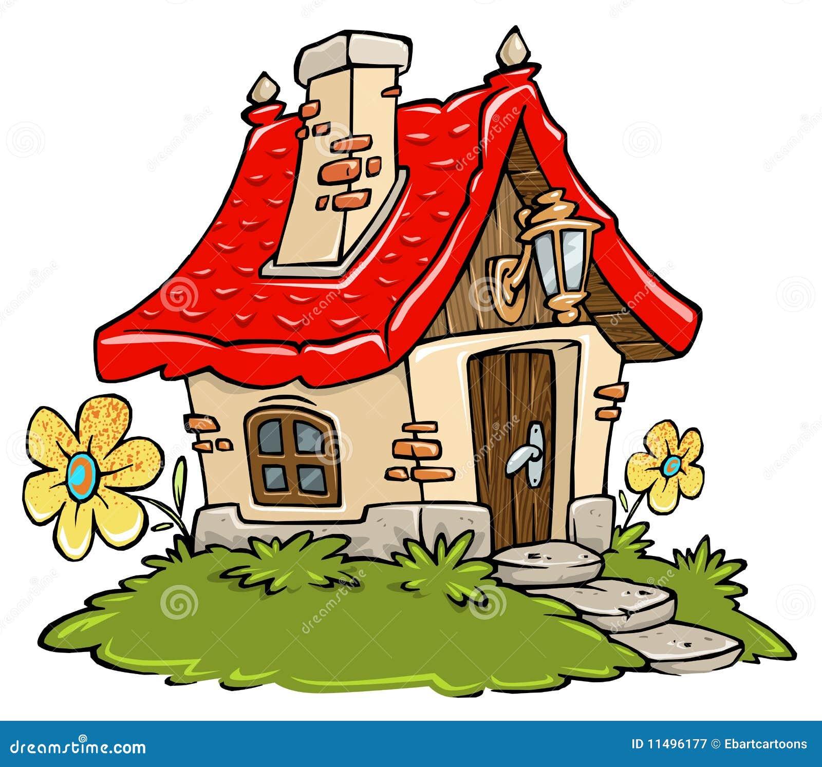 Cartoon Cottage Royalty Free Stock Photography Image