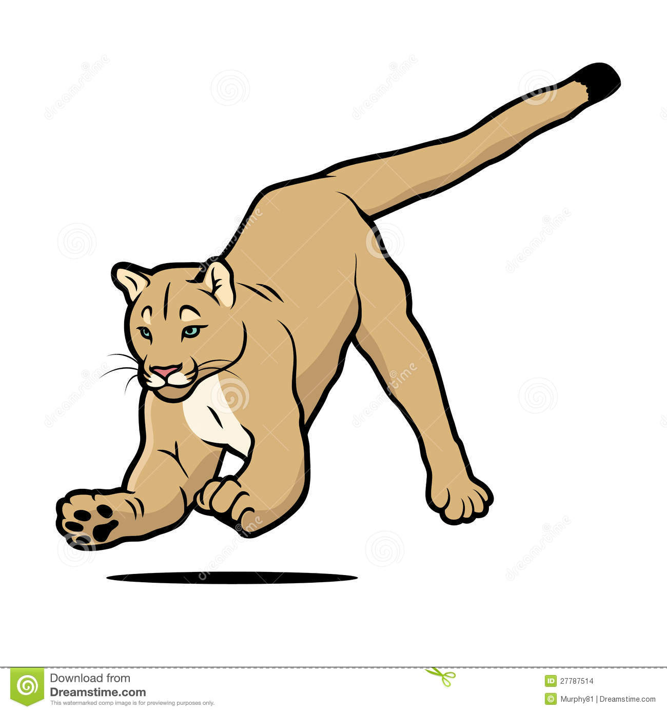 cartoon cougar stock vector illustration of country 27787514 rh dreamstime com cartoon cougar paw cartoon cougar clipart