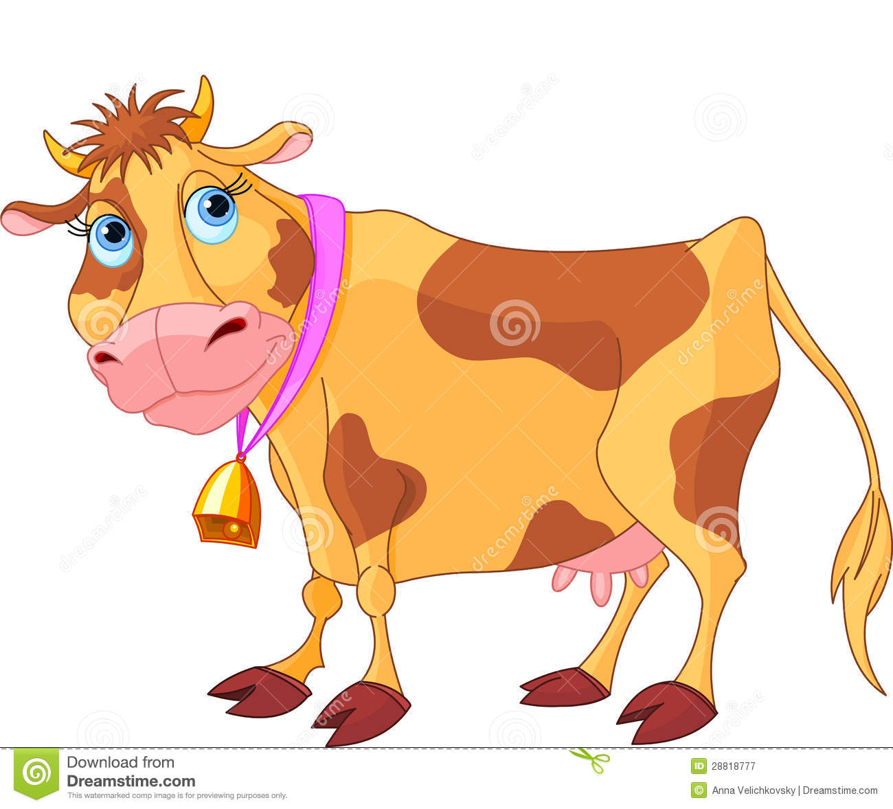 Cartoon Cow Stock Vector. Image Of Nature, Mammal, Animal