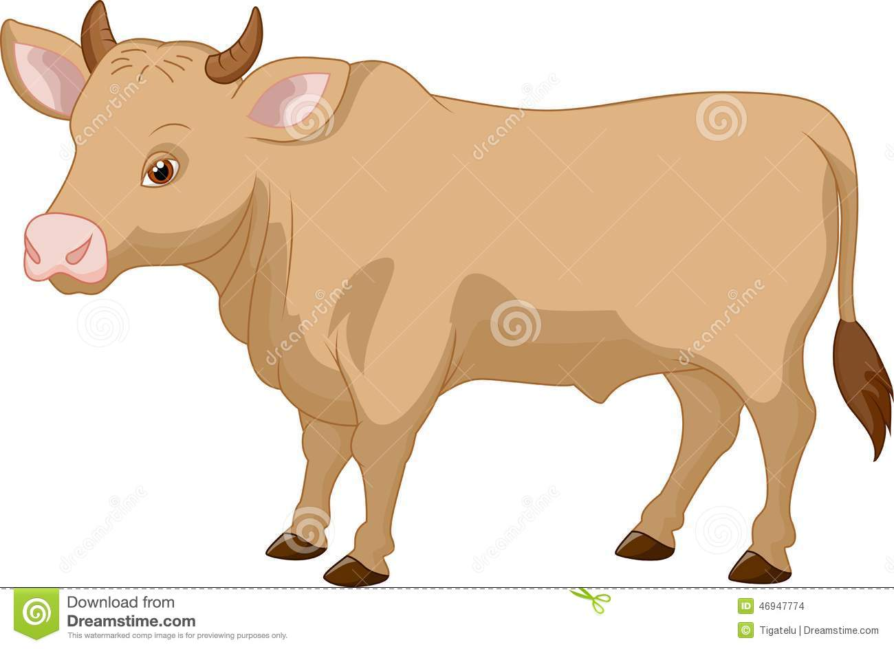 cartoon cow posing stock vector illustration of agriculture 46947774 dreamstime com