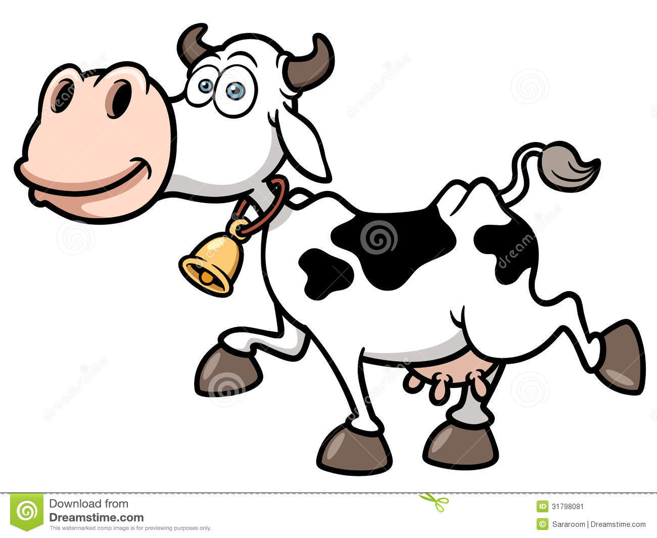 Cartoon Cow Stock Image - Image: 31798081