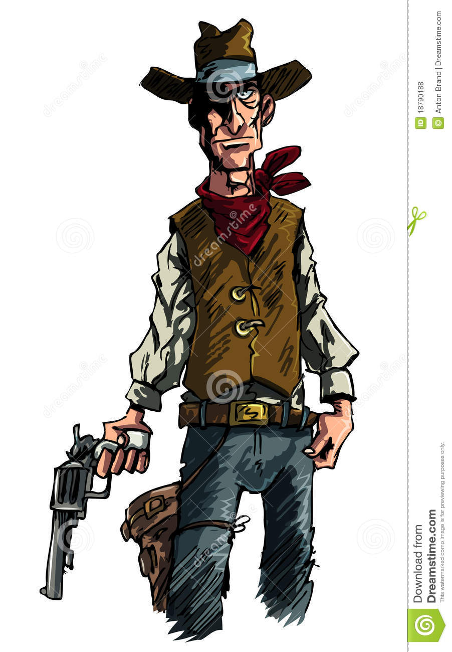 Cartoon Cowboy Gunslinger