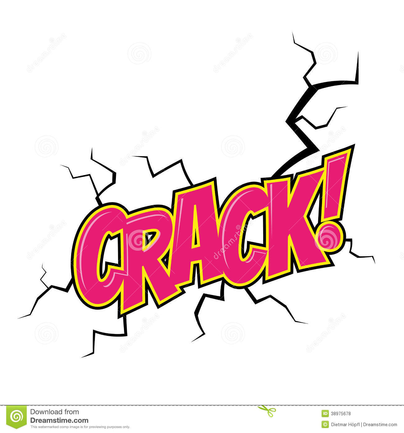 Cartoon Crack Noise Stock Vector - Image: 38975678