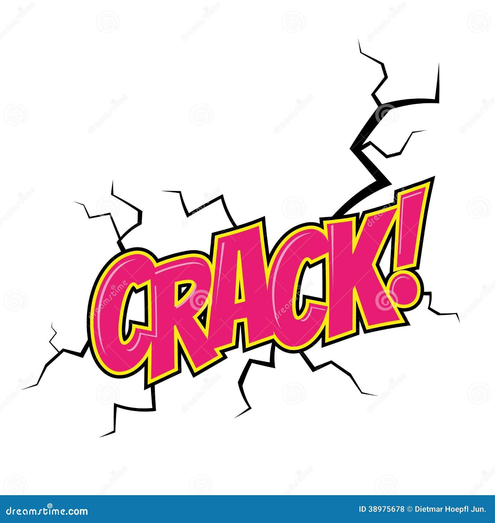cartoon crack noise stock vector   image 38975678