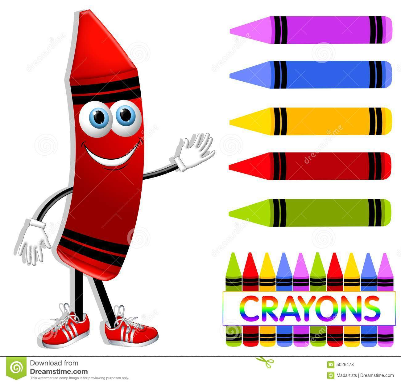 cartoon crayon collection stock illustration illustration of image rh dreamstime com red crayon clipart black and white red crayon clipart black and white